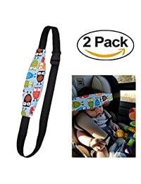HULISEN 2Pcs Infants and Baby Head Support Pram Stroller Safety Seat Fastening Belt Adjustable Playpens Sleep Positioner (Blue) BOBEBE Online Baby Store From New York to Miami and Los Angeles