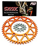 FLO MOTORSPORTS O-RING Combo Kit KTM 125-590cc 14T front sprocket/ 48, 50 & 51 Tooth rear sprocket (51, Orange)