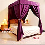 Is There a Bed Bigger Than a King KQCNIFVNKLM Air conditioning bed curtain home wind dust shading solid color mosquito net cover privacy mosquito net canopy for bed-yellow King