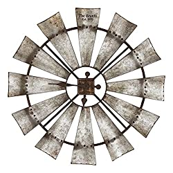 Special T Imports Rustic Windmill Clock (30 Personalized)
