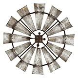 Special T Imports Rustic Windmill Clock (30'' Personalized)