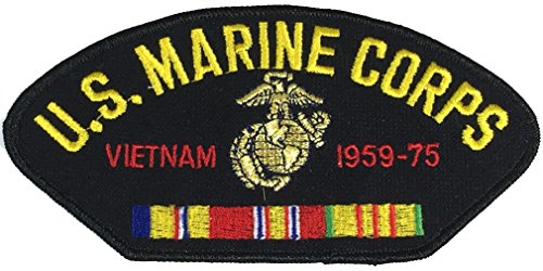 U.S. MARINE CORPS VIETNAM VETERAN W/ COMBAT ACTION RIBBON PATCH - Multi-colored - Veteran Owned - Marine Ribbon Corps