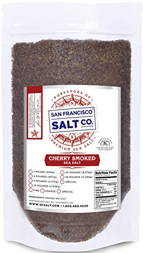 Cherrywood Smoked Sea Salt (2lb Bag - Coarse Grain)