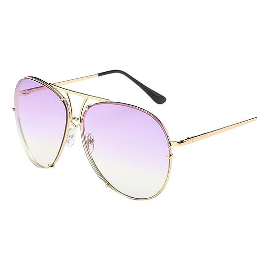 6e00dcbda3 Amazon.com  Limsea Hot Sale! Oversized Aviator Sunglasses Flat Top ...
