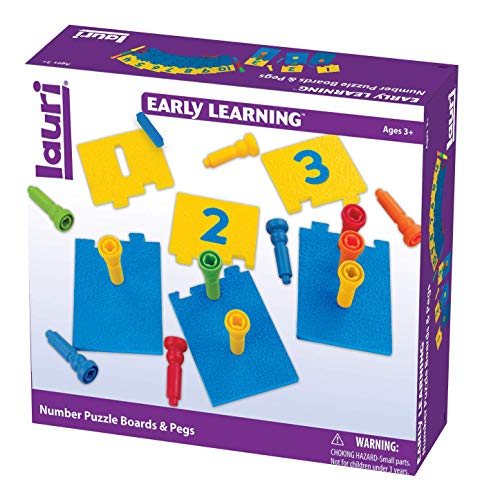 PlayMonster Lauri Number Puzzle Boards & Pegs by PlayMonster