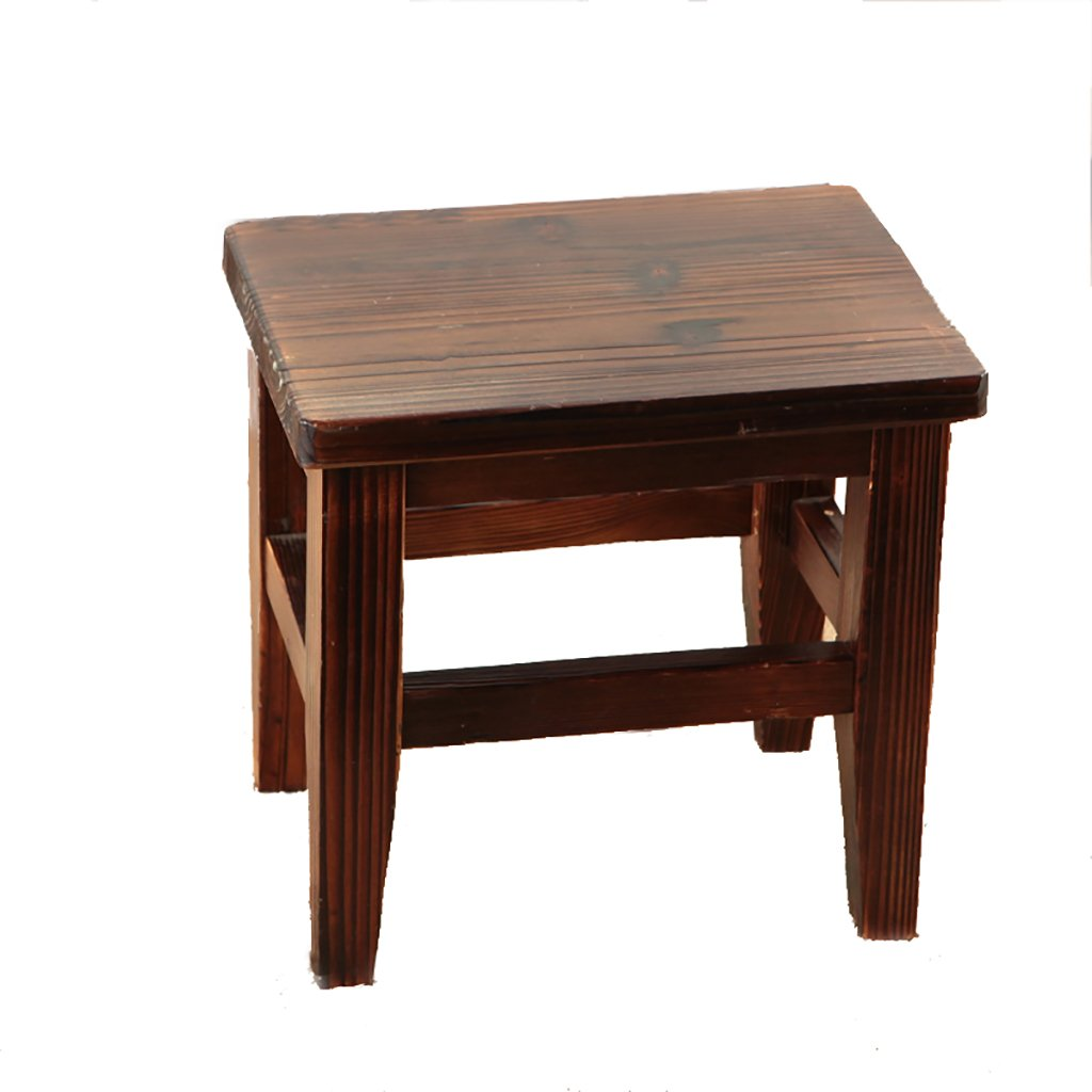 WENJUN Small Stool Home Solid Wood Children's Wood Stool Living Room Stool Modern-Style Retro Old Stool Creative Adult Shoes Stool Living Room Coffee Table Stool