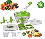 Floraware 14-Piece Food Processor, Atta Maker, Dough Kneader (Green)