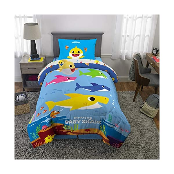 Franco Kids Bedding Super Soft Comforter with Sheets and Plush Cuddle Pillow Set