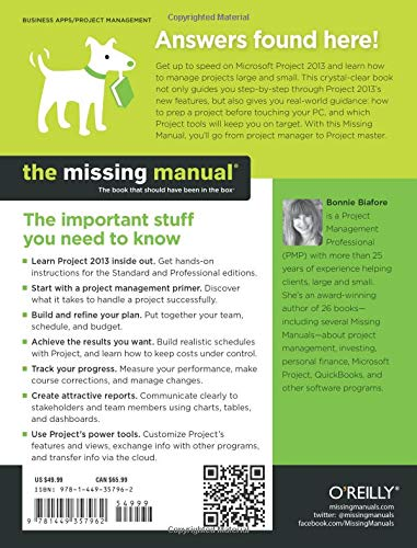 Microsoft Project 2013: The Missing Manual (Missing Manuals): Amazon