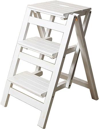 Kitchen stool Taburetes Escalera Escalera Multifuncional para el hogar Escalera Plegable de Tres Capas de Interior Escalera Ascendente para móvil de Madera Maciza Escalera para el hogar para Mesa: Amazon.es: Hogar