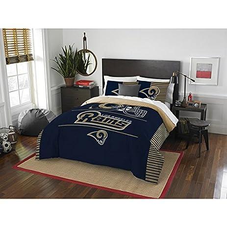 Los Angeles Rams Comforter Set Bedding Shams NFL 3 Piece Full Queen Size 1  Comforter