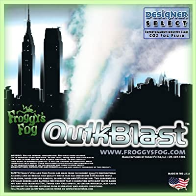 Froggys Fog 1 Gal - QuikBlast - Best Fluid for Chauvet Geysers - CO2 Blast Effect Fog Machine Fluid from Froggys Fog