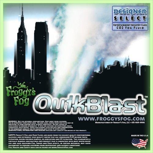 Froggys Fog 1 Gal – QuikBlast – Best Fluid for Chauvet Geysers – CO2 Blast Effect Fog Machine Fluid