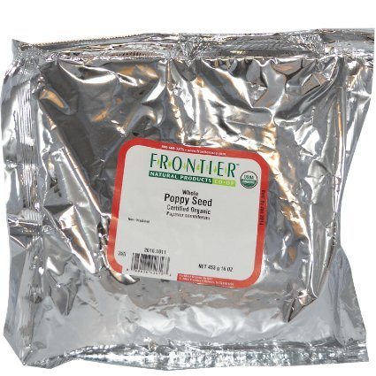 Frontier Herb Poppy Seed, Organic, Whole, Bulk, 1 Pound by Frontier