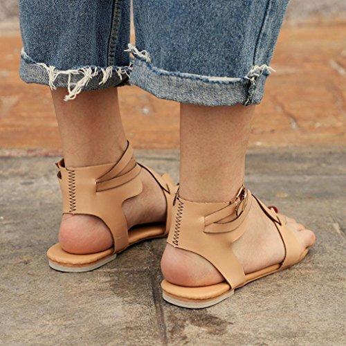 À Entredoigt Flat Sandales Bride Taille Femme Beige En Chaussures Tongs Cuir Grande Cheville Toes Bohême Métallisé Plates Peep overdose p44twxqFE