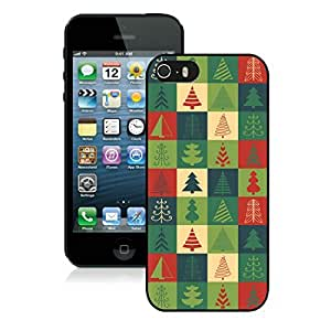 Personalized Iphone 5S Protective Cover Case Christmas Tree iPhone 5 5S TPU Case 21 Black