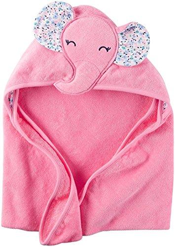 Hamilton Bath - Carter's Hooded Bath Towel - Little Elephant - Pink