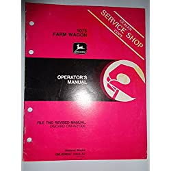 John Deere 1075 Farm Wagon Operators Owners Manual