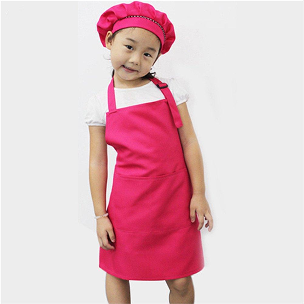 peinture Gloryhonor Tablier de cuisine pour enfant de couleur unie 54cm x 50cm//21.26 x 19.69 bleu artisanat