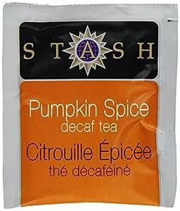 Stash Tea Decaf Pumpkin Spice Black Tea, 10 Count Tea Bags in Foil (Pack of 12)