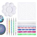 Mandala Dotting Tools for Painting Rocks Pen Dotting Tools Mandala Stencil Brush Set 15 PCS