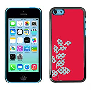 All Phone Most Case / Hard PC Metal piece Shell Slim Cover Protective Case for Apple Iphone 5C Polka Dot Raster Pink Red Leaves