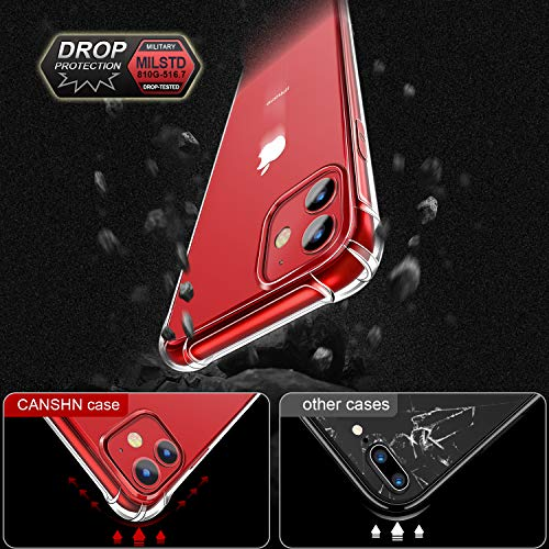 CANSHN iPhone 11 case Clear Protective Heavy Duty Case with Soft TPU Bumper [Slim Thin] Case for iPhone 6.1 Inch (2019…