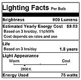 Sylvania 59034 - 75PAR16/CAP/NFL30 - 75 Watt PAR16 Narrow Flood Light Bulb, 30 Degree Beam