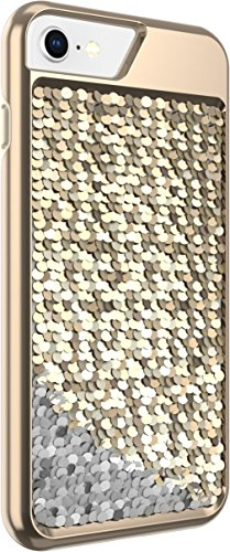 Body Glove Shimmer Reversible Sequins Phone Case for iPhone 6, 6s, 7, 8 - Gold/Silver