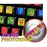 NEW ADOBE PHOTOSHOP KEYBOARD STICKER FOR DESKTOP, LAPTOP AND NOTEBOOK