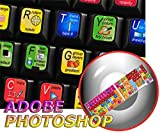4Keyboard New Adobe Photoshop Keyboard Sticker for Desktop, Laptop and Notebook