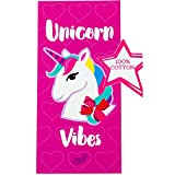 #7: JoJo Siwa Unicorn Vibes Beach Towel 58 X 28 Inches   Summer Beach & Pool Towel 100% Soft Cotton Fabric   Nickelodeon Character Beach Towel (Unicorn)