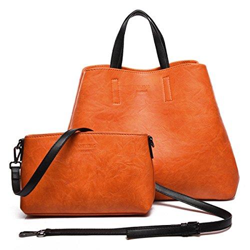 Sac Les Loisirs Sacs à En à Dames Bandoulière Sac Et États Mode Paquet Simple Seau Vrac De L'Europe Main Diagonal Orange Kits Unis Exquis 5w78BnxYq