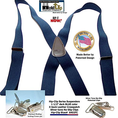 65b567fc662 Holdup Suspender s Blue Trucker Style Hip-clip Suspenders in 1 - Import It  All