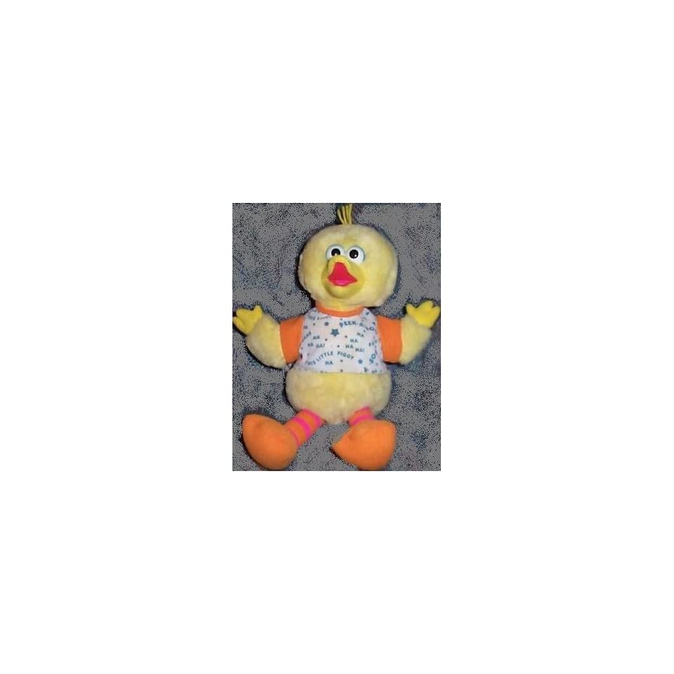 Sesame Street Playtime Big Bird 17 Plush, Says Peek a Boo, Pat a Cake and This Little Piggy Doll Toy