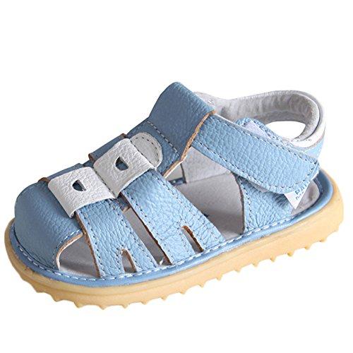 Scothen Unsex Playa de verano cerrado sandalias zapatos para caminar libre ultraligero calzado transpirable plana unisex niños muchachas ocio zapatos de trekking para caminar/sandalias de la mitad Light Blue