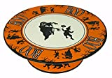Bethany Lowe Halloween Party Ceramic Cake Plate, Witch, Ghouls, and Boo