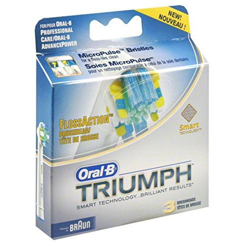 Oral-B Triumph FlossAction Brushhead, 3 ct.