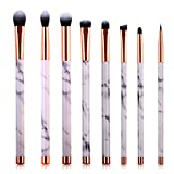 detail eyeliner brush - Marble Makeup Brush Set - Marble Eyeshadow Brushes Set Angled Eyeliner Brush Lip Brush Blending Crease Kit - Best Choice 8 Vegan Makeup Brushes - Pencil, Shader, Tapered, Definer