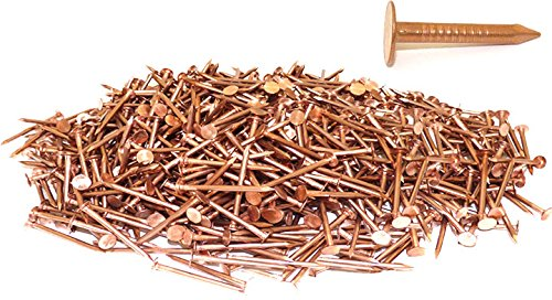 1'' x 11-GAUGE 2D SMOOTH COPPER ROOFING/SLATING NAILS 25lb by FastenerUSA