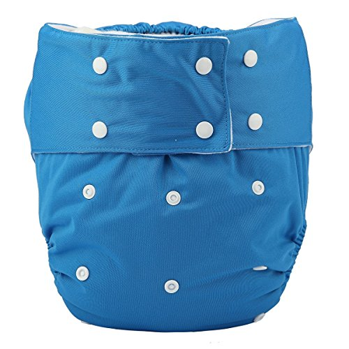 Adult Cloth Diaper - Sigzagor Teen Adult Cloth Diaper Nappy Reusable Washable For Disability Incontinence Men Boys (Blue)