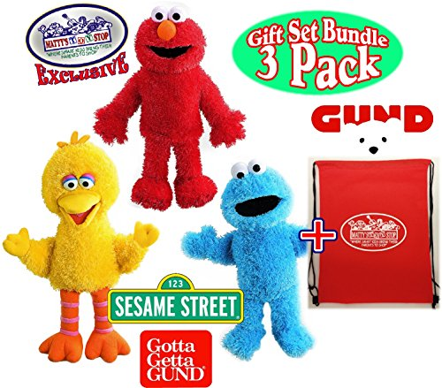 GUND Sesame Street Full Body Plush Hand Puppets Featuring Elmo, Cookie Monster, Big Bird & Exclusive