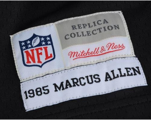fec57bd7b Marcus Allen Oakland Raiders Autographed Black Mitchell & Ness Replica  Jersey with