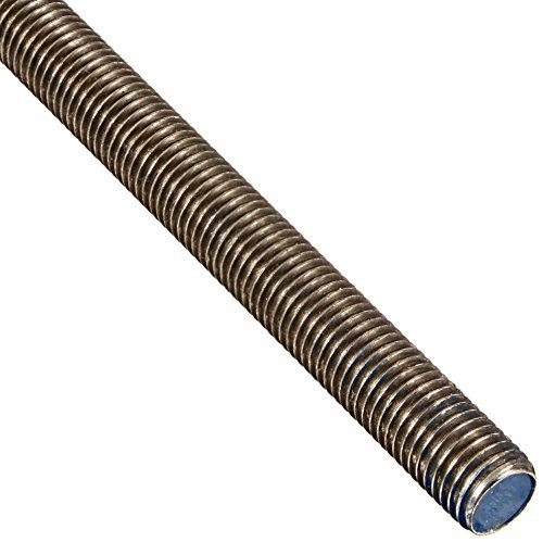 """18-8 Stainless Steel Fully Threaded Rod, 3/4""""-10 Thread Size, 72"""" Length, Right Hand Threads"""