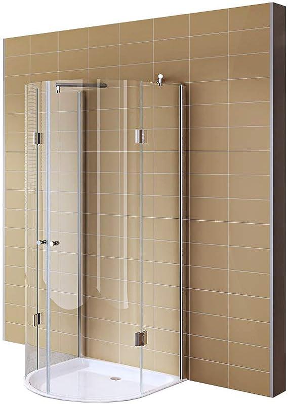 Redondo ducha, ducha cabina 85 x 85 x 190 cm de vidrio templado ...