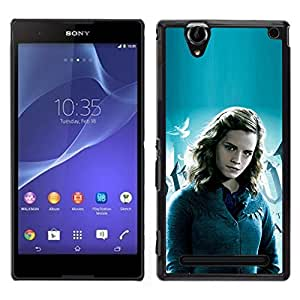 MOBMART Slim Sleek Hard Back Case Cover Armor Shell FOR Sony Xperia T2 Ultra - Hermione Girl