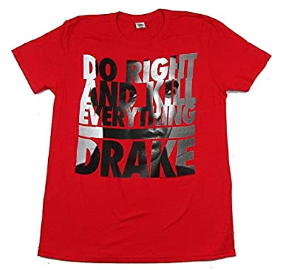 Drake Face Letters Do Right Red T Shirt