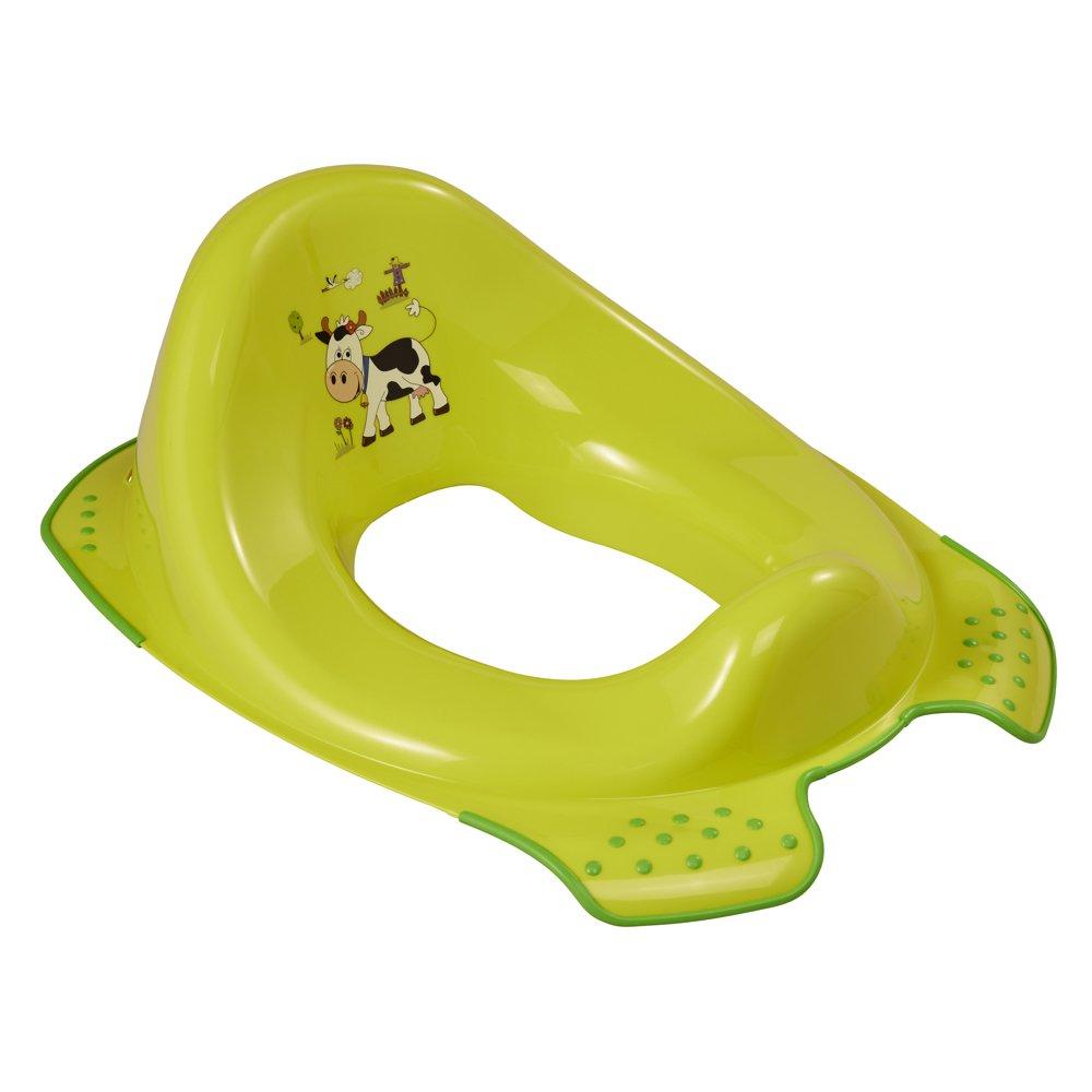 OKT Kids 18650274063 - Asiento de inodoro para niños, diseño de granja, color verde 1865027406300