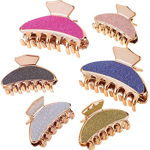 6 Pieces Hair Claw Clips Plastic Acrylic Jaw Clips Hair Clamps Barrette for Women Girls Hairstyle Accessories