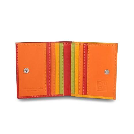 43dd9f0530 Portafoglio di pelle multicolore porta carte e monete di DUDU Rosso ...